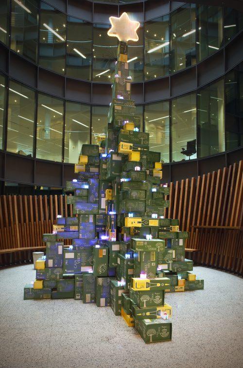 Árbol de Navidad para Correos